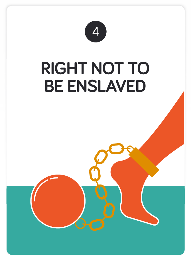 human rights no slavery To broadly raise awareness of the 30 inalienable rights as proclaimed by the universal declaration of human rights, the church of scientology sponsored the production of a corresponding series of.