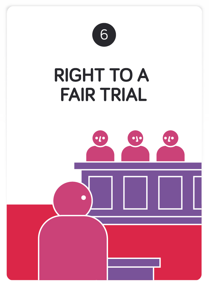 Image result for right to a fair and just trial deprives of of our civil rights