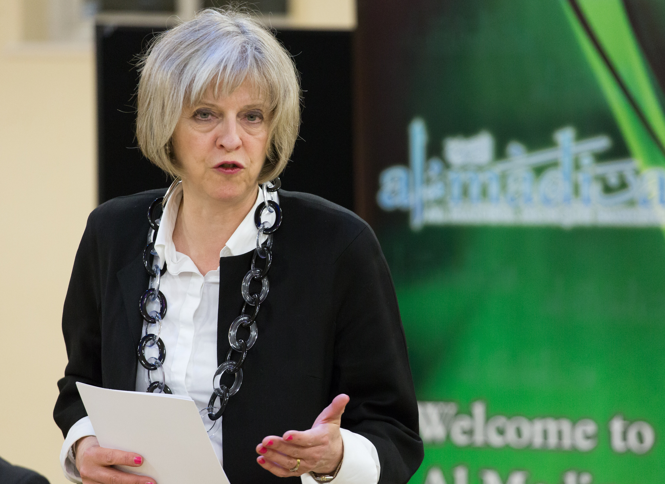 Theresa May visits Al Madina Mosque - RightsInfo