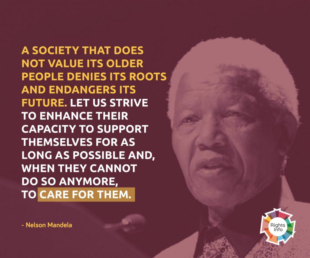 03-Wednesday - 15 June (World Elder Abuse Awareness Day) - Mandela