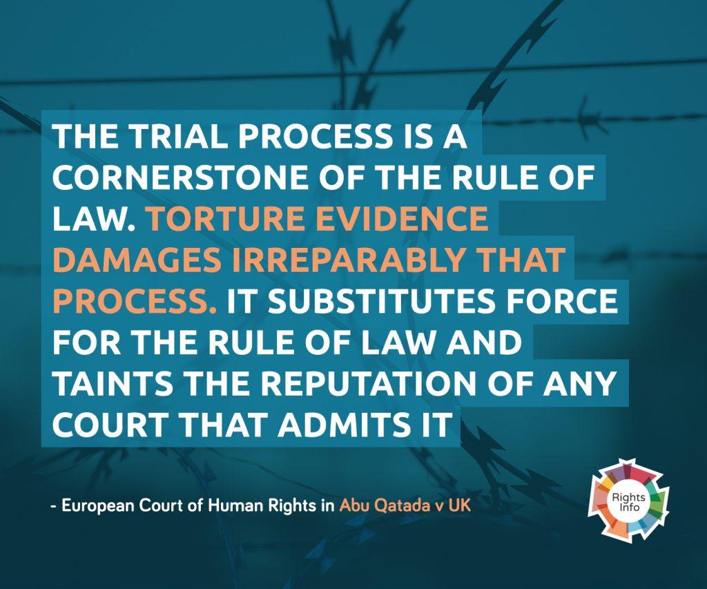 European Court of Human Rights in Abu Qatada v UK