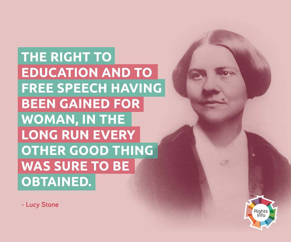 Lucy Stone on education