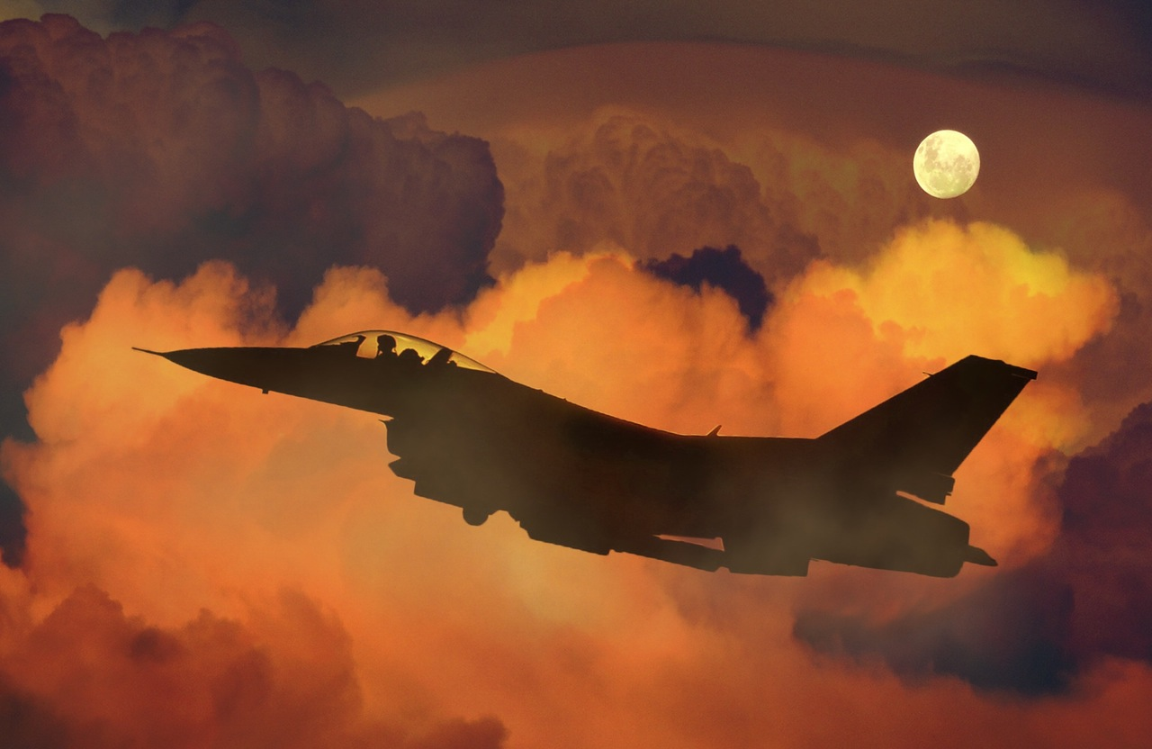 air-plane-fighter-night-sky-moon