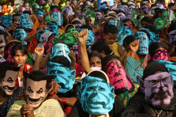 a climate change protest in Bangladesh