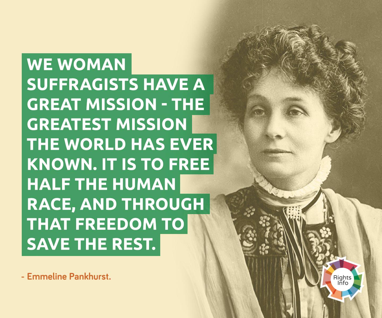 emmeline pankhurst mission rightsinfo