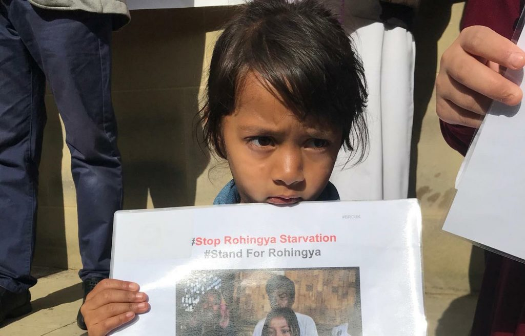 Rohingya Muslims Protest in Bangladeshi Camp Calling for UN Protection