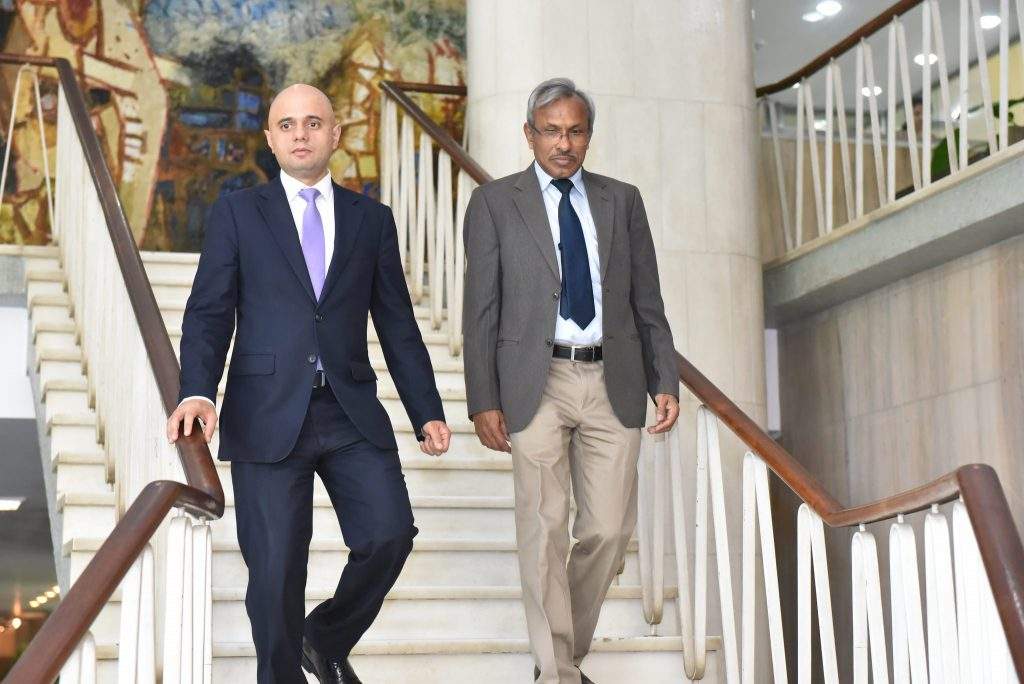 Sajid Javid visit to New Dehli India