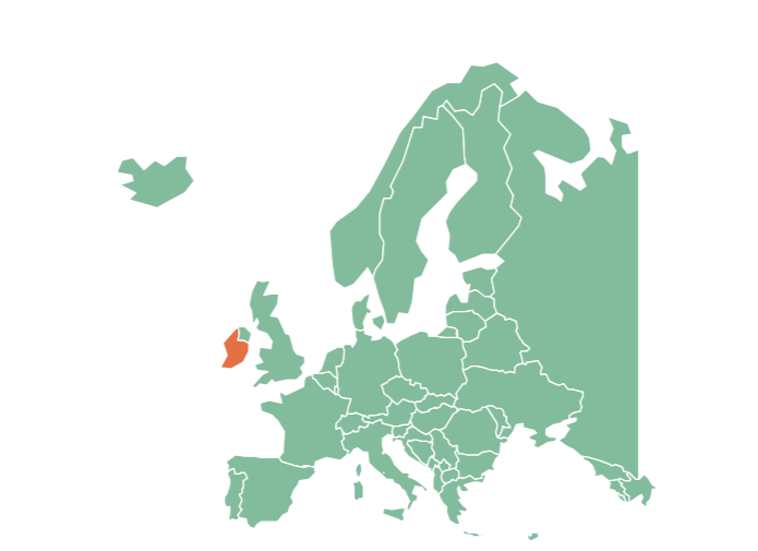 map of europe abortion