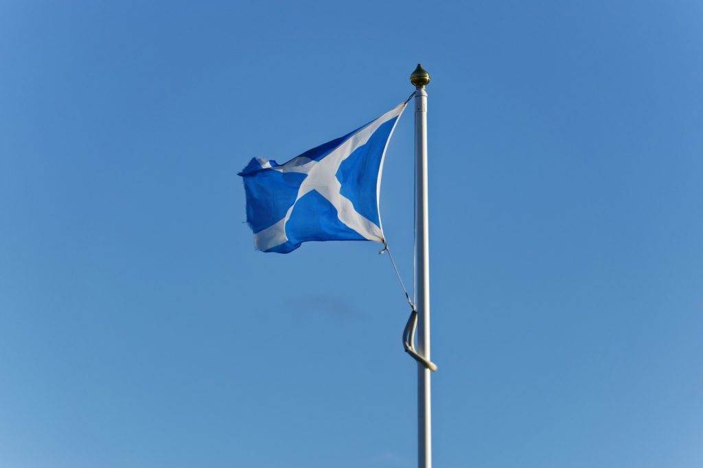 scottish flag saltire