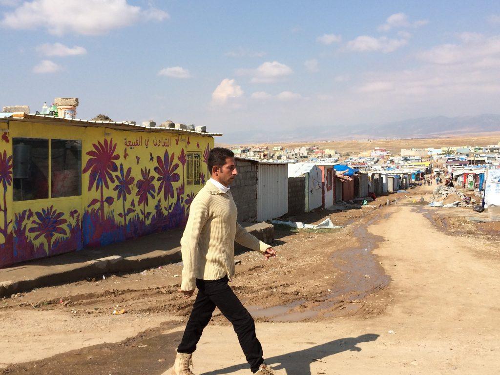 man in the Domiz camp in Iraq