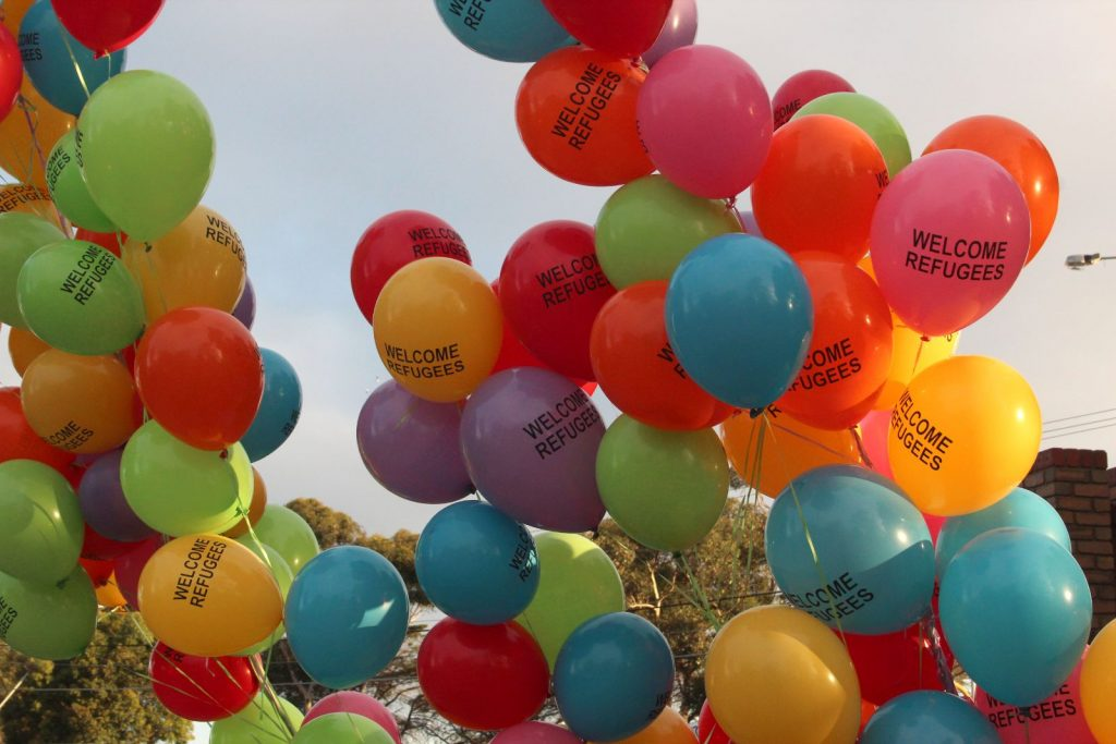 Refugees Welcome Balloons