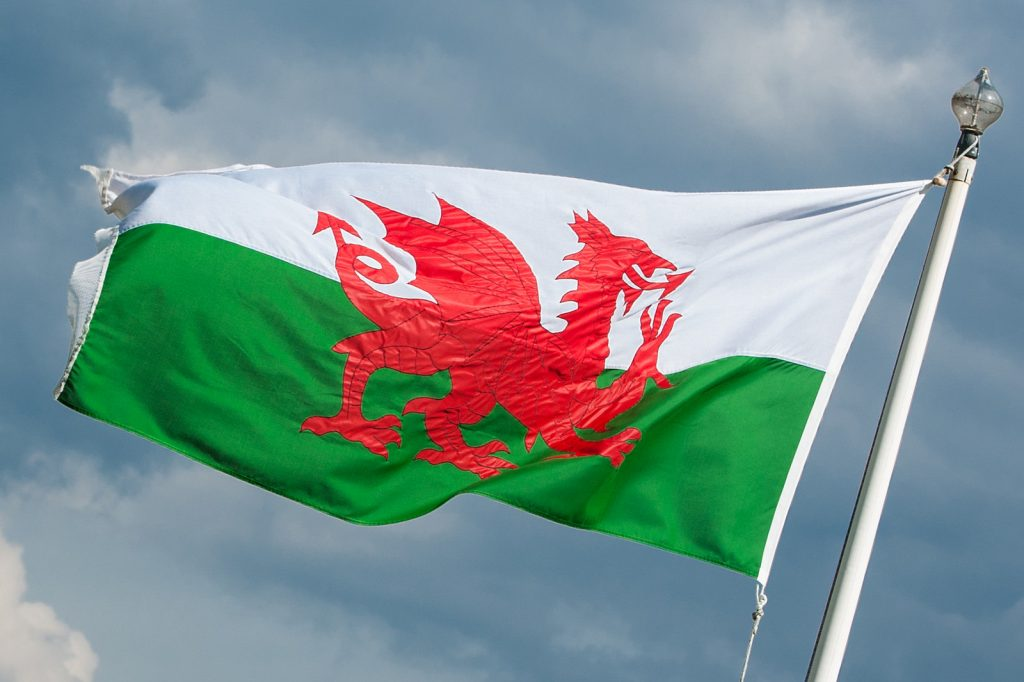 welsh flag to symbolise that wales are the only place to protect the right to play