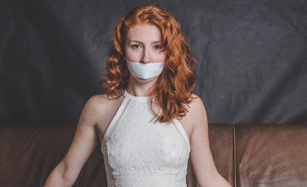 Woman silenced