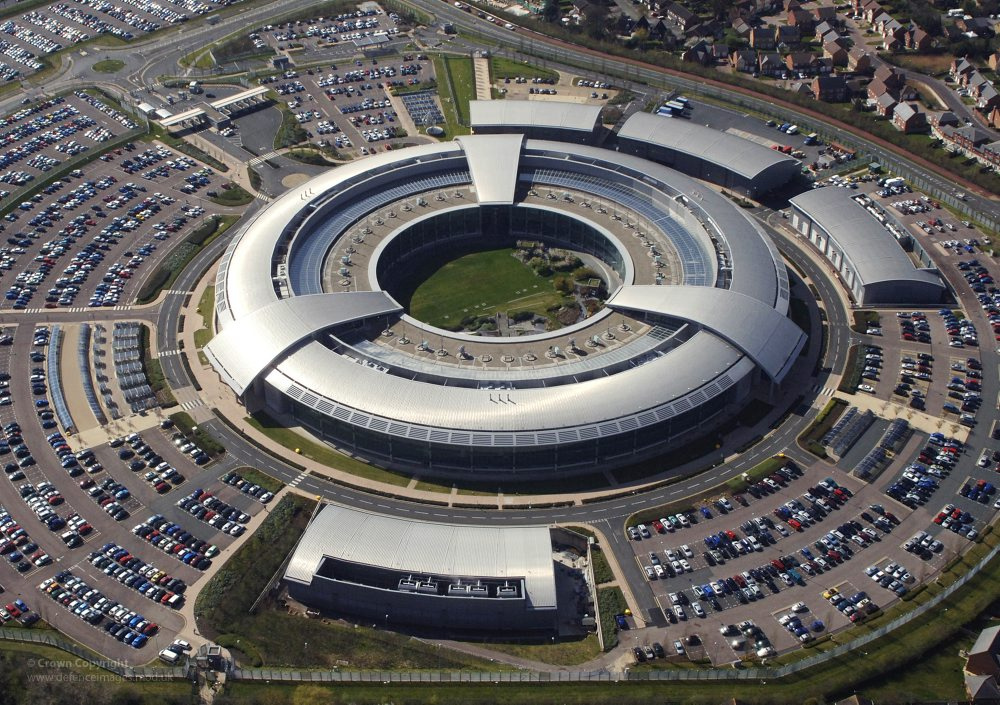 Pic is being used to highlight that European Court of Justice has ruled GCHQ has breached human rights and privacy laws in its mass surveillance of private communications