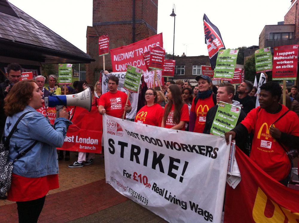 McStrike protest
