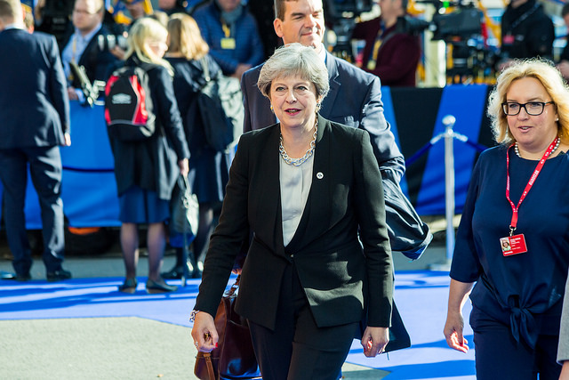 theresa may walking