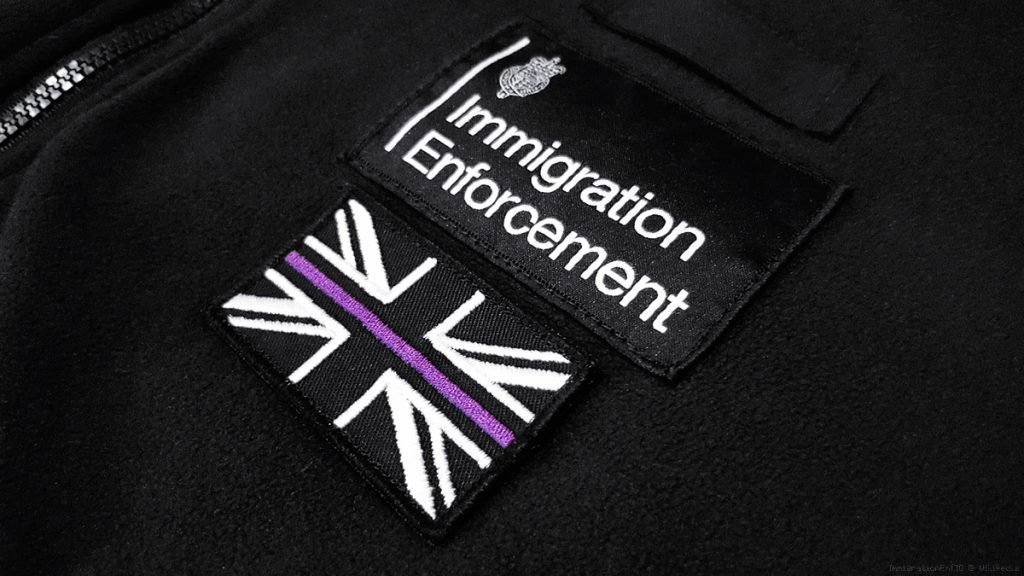 Wikimedia commons - https://en.wikipedia.org/wiki/Immigration_Enforcement#/media/File:Thin_Purple_Line_Patch.jpg