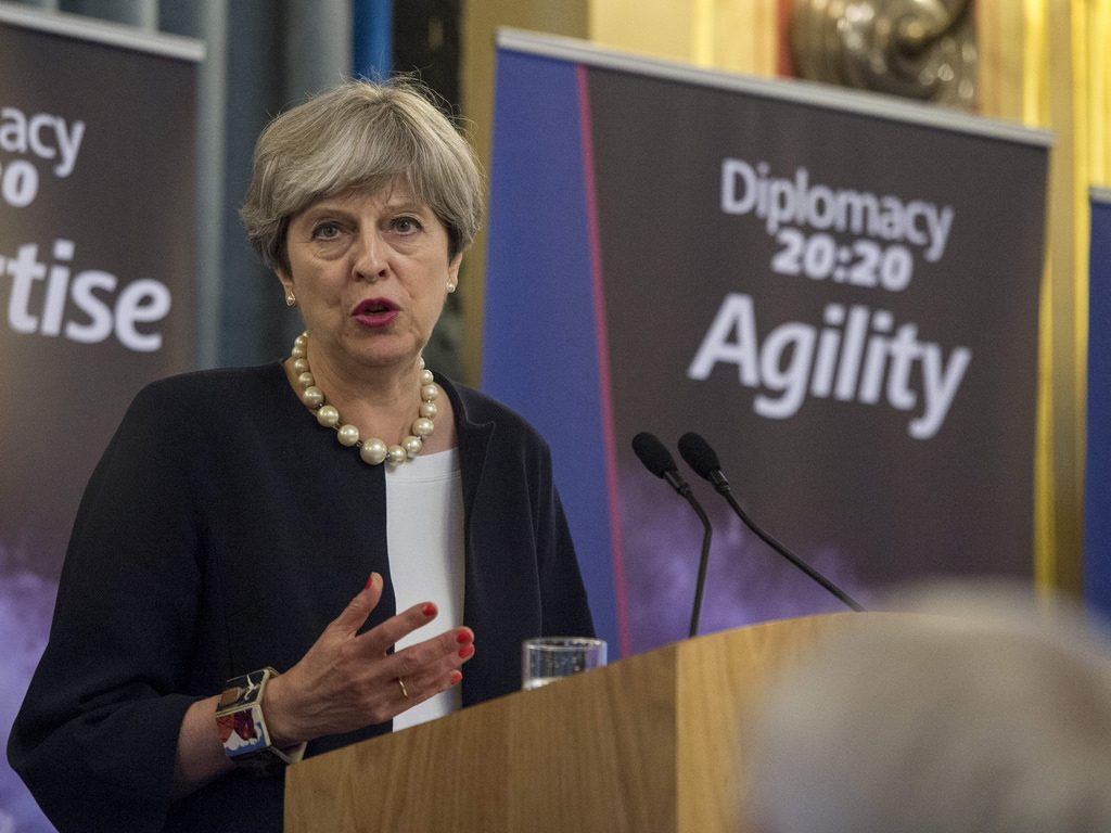 Prime Minister Theresa May Speaking