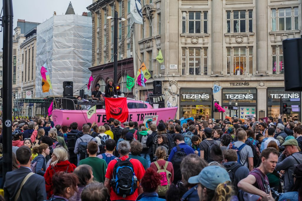 Extinction Rebellion protests (Ollie Cole)