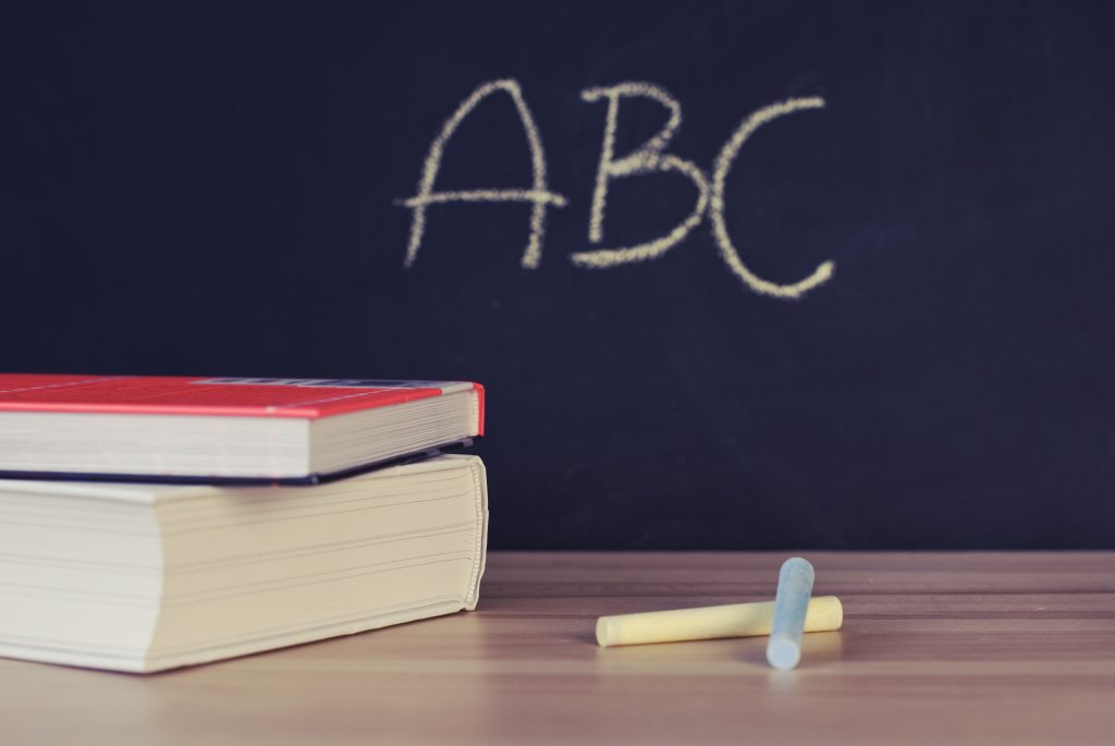 https://www.pexels.com/photo/abc-books-chalk-chalkboard-265076/
