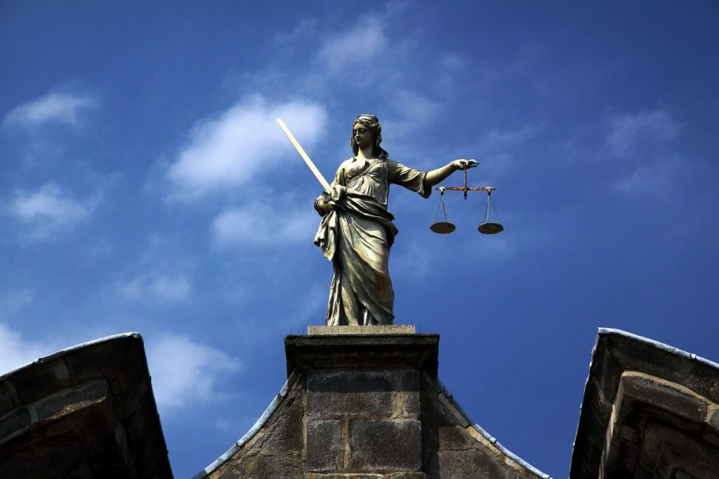 General Election: A statue of lady justice symbolises human rights laws.