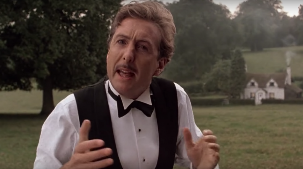 Eric Idle in Monty Python's The Meaning of Life. Credit: YouTube.