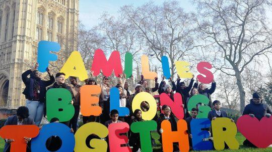 UK Children Protest Rules Blocking Refugee Family Reunion
