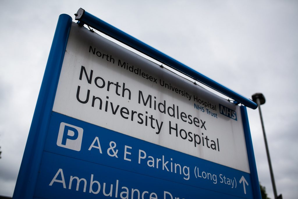 North Middlesex University Hospital, used in an article about middle-aged men being at highest risk of suicide during the coronavirus pandemic