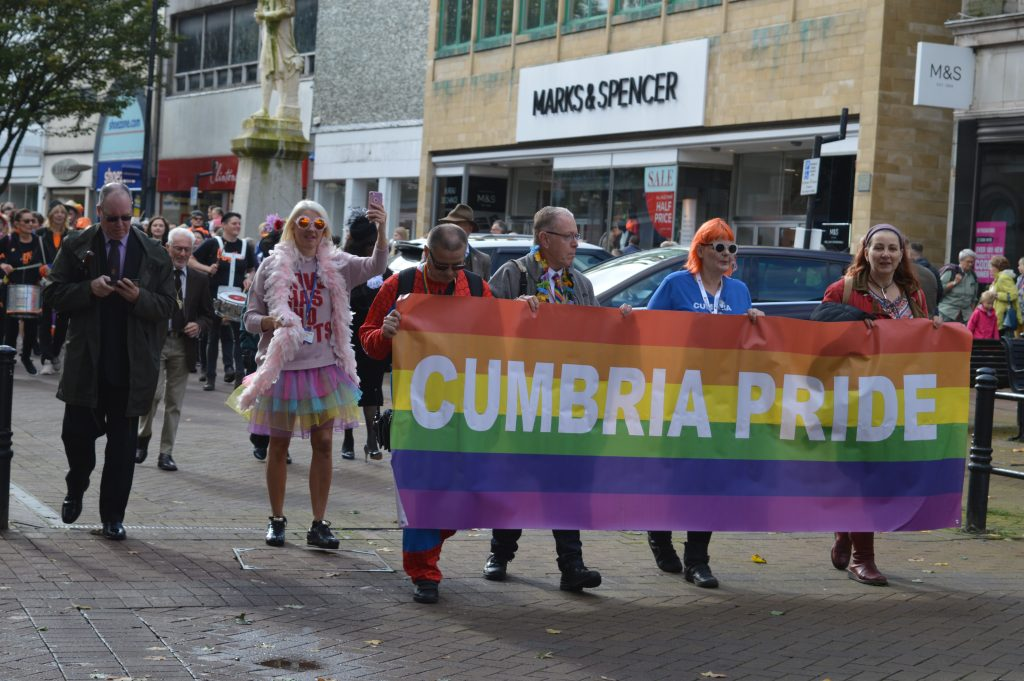An image of Cumbria Pride's parade last year