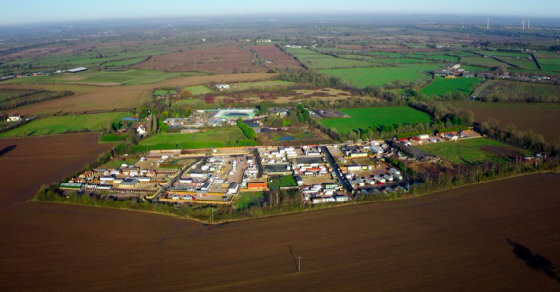 The Mere Lane Traveller site, as featured on a Channel 4 documentary