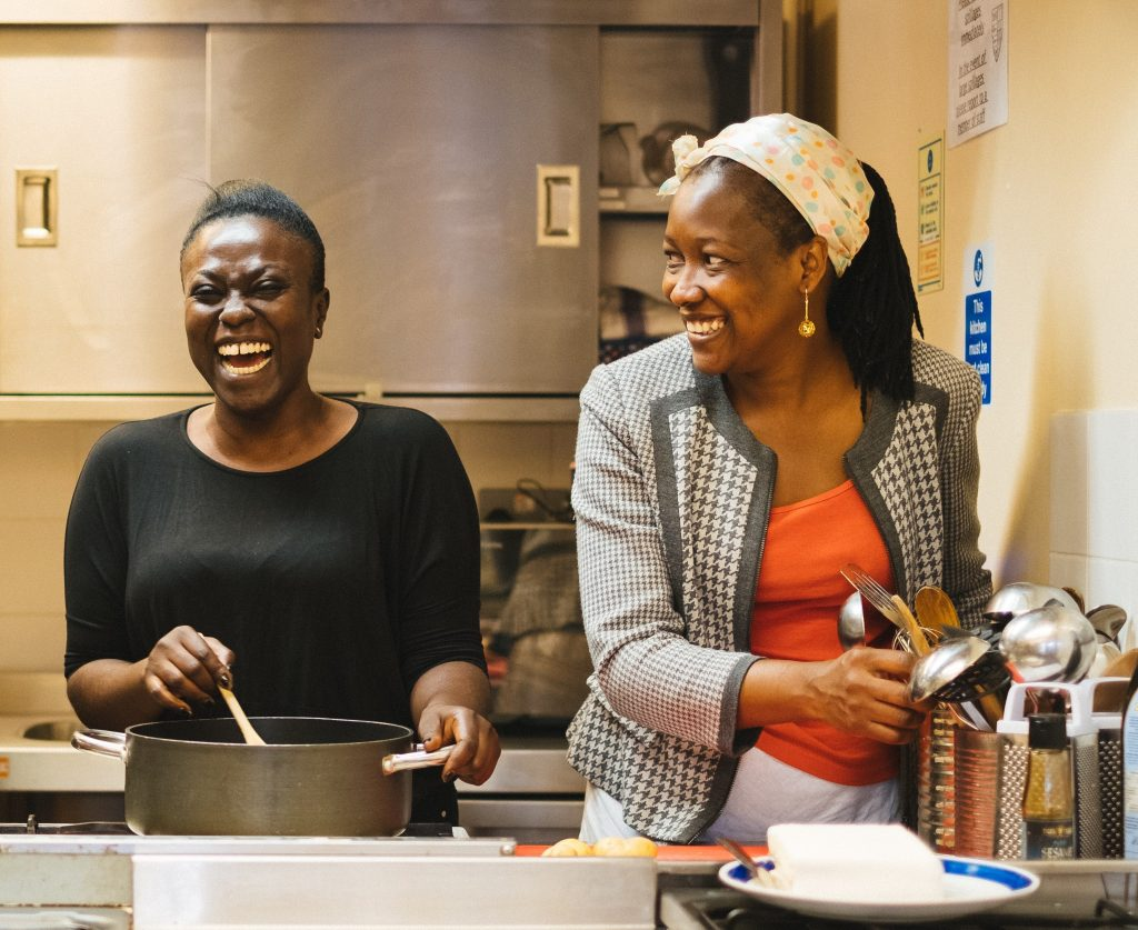 Two refugee chefs from Nigeria