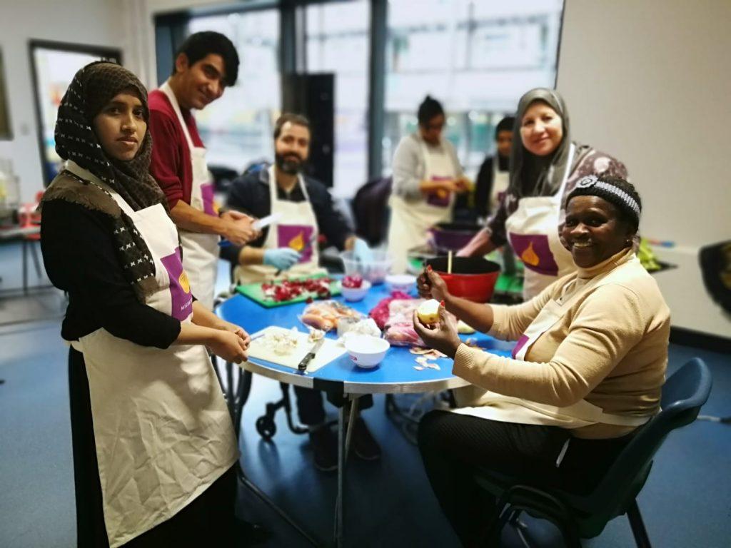 Refugee chefs in training