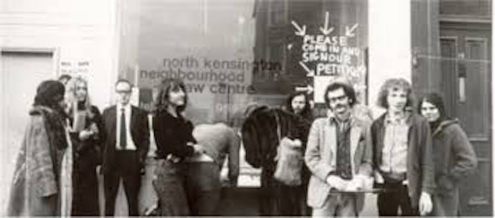 North Kensington Law Centre, set up in July 1970, was the first Law Centre in the UK. This photo is being used in an article on the shortage of legal aid funding in the UK.