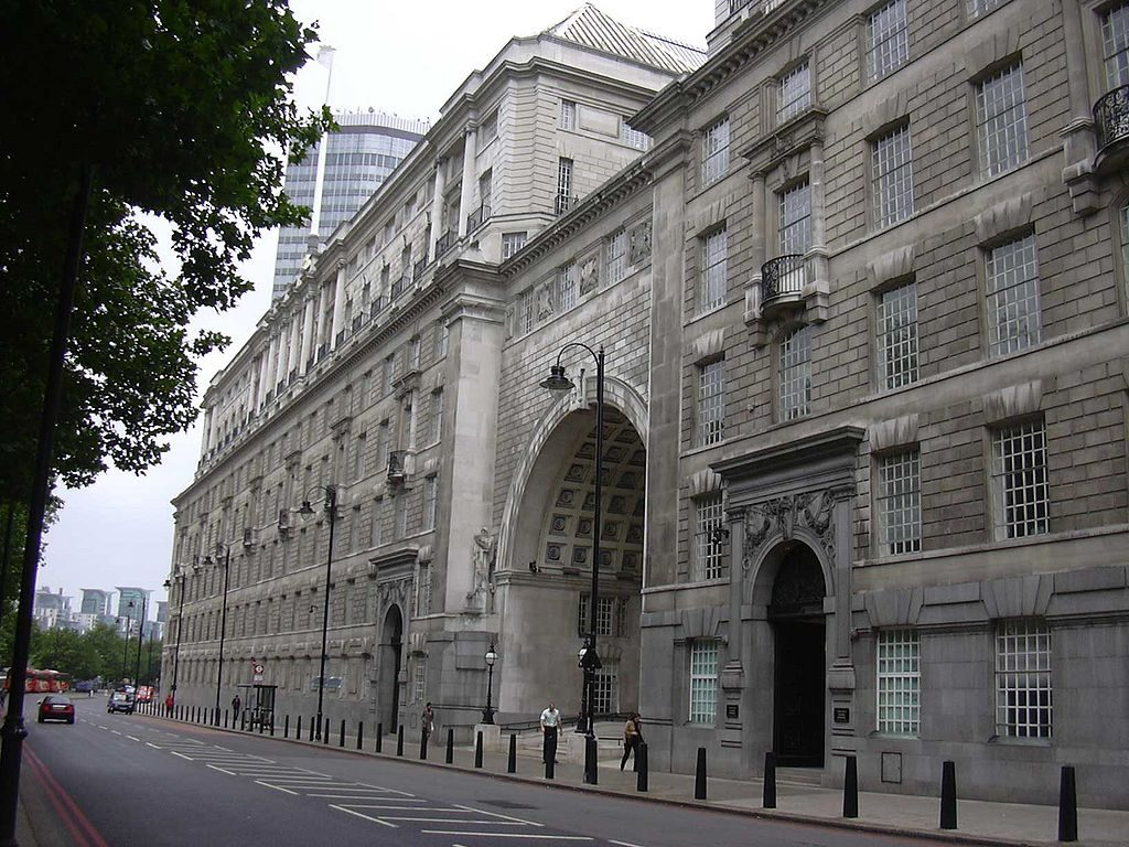 A photo of MI5's headquarters Thames House