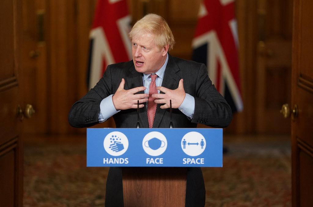 Boris Johnson addressing the nation on self-isolation laws