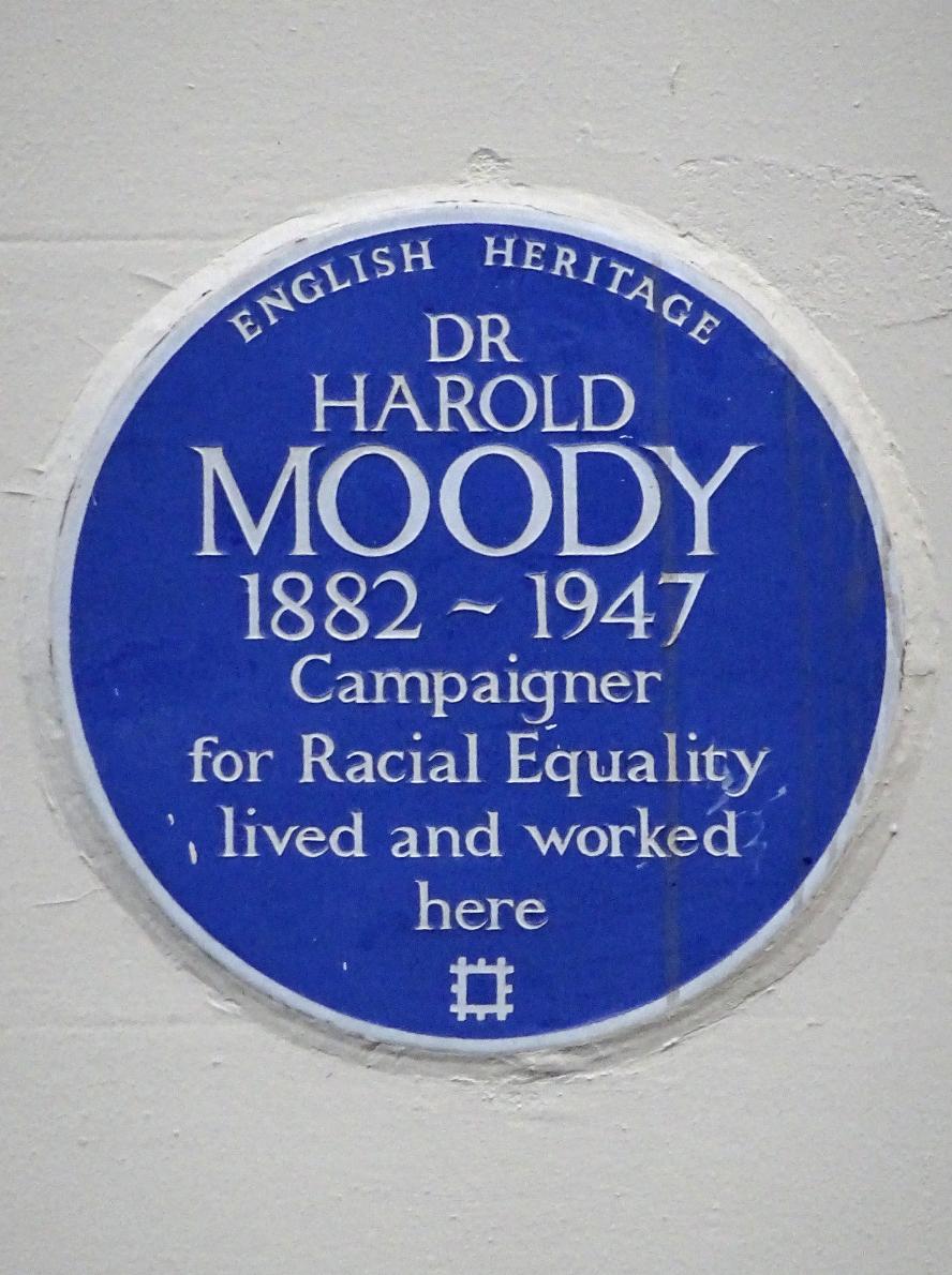 Harold Moody plaque