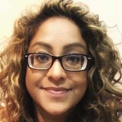 Image of Lena Bheeroo - close up, wearing glasses