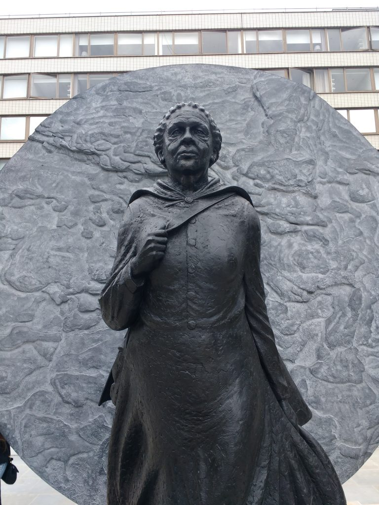 A statue of Mary Seacole in an article on International Women's Day